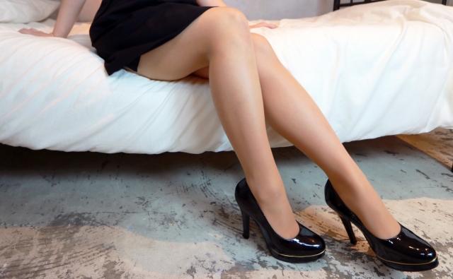 エステサロンできれいになったスリムな美脚