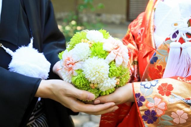 結婚式でのおしゃれな和装