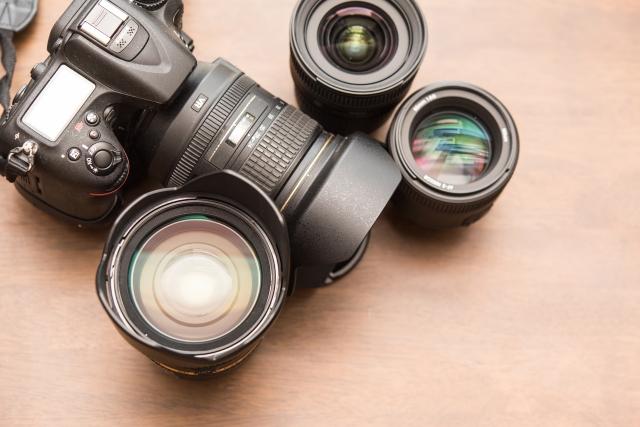 プロユースの本格的なカメラ